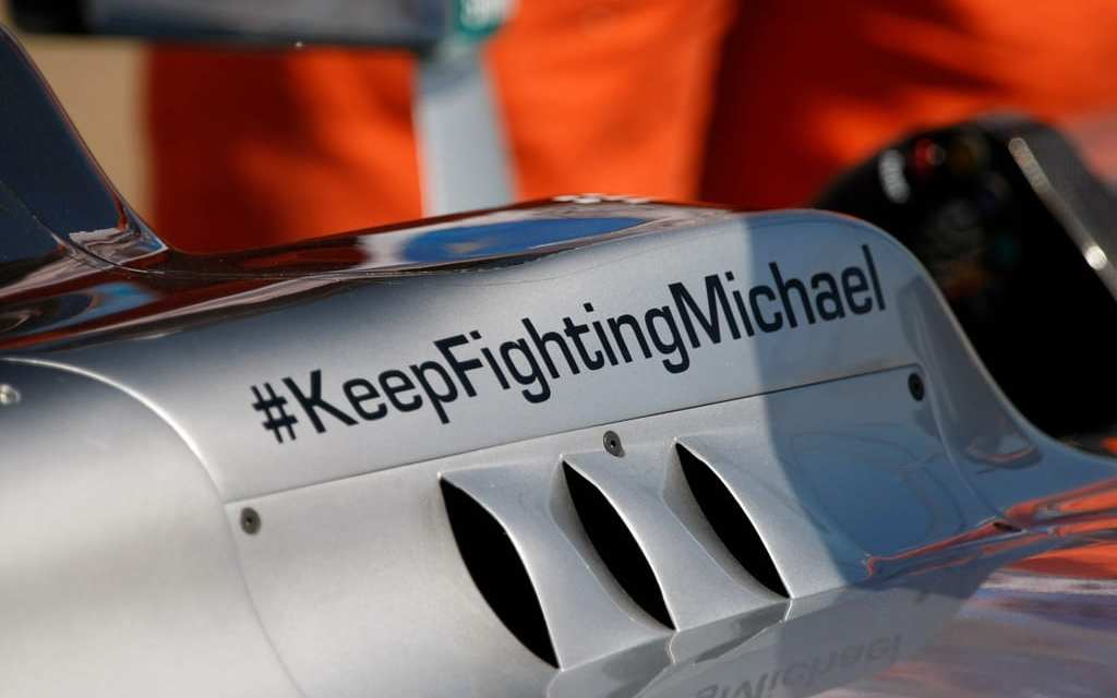 "Michael Schumacher has applied for a Trademark ""KeepFighting"""