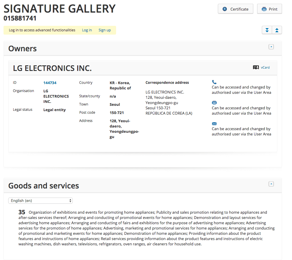 LG have applied for a Trademark for SignatureGallery <a href=http://twitter.com/LG target=_blank rel=nofollow data-recalc-dims=1>@LG</a> LG 1
