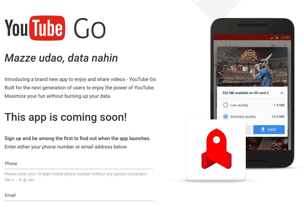 Google Youtube Go Trademark Application