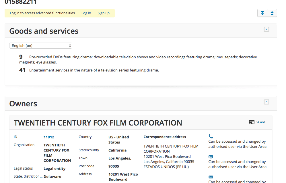 Those scamps at @20thcenturyfox have applied for an EU Tradmark for Speechless