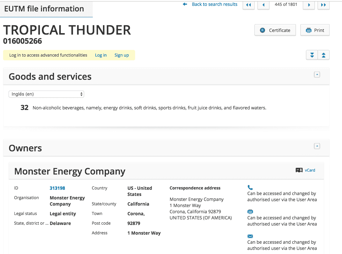Another New Monsterenergy Flavour Looking By The Trademark Application Tropical Thunder No Less Monster Tropicalthunder