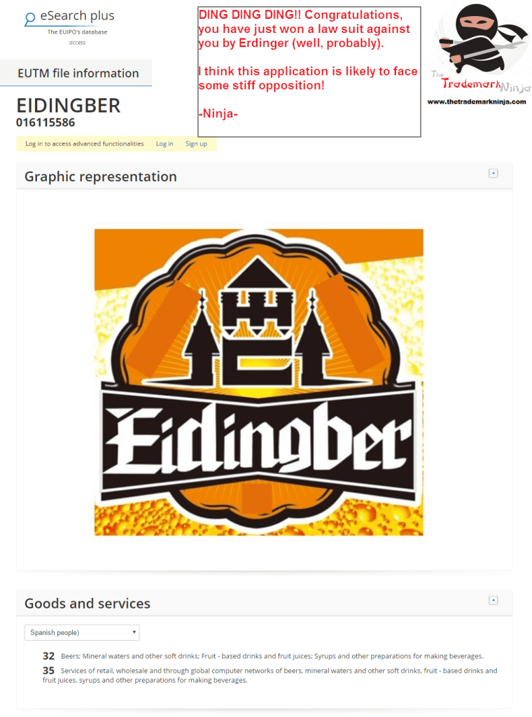 Id be very surprised if the nice people at Erdinger dont have something to say about this