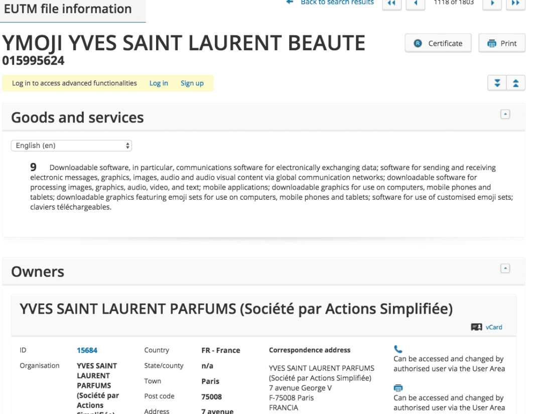 Oh Ysl Not You Too Yves Saint Lauren Jump On The Emoji Band Wagon With Ymoji Trademark Application Ysl Ymoji