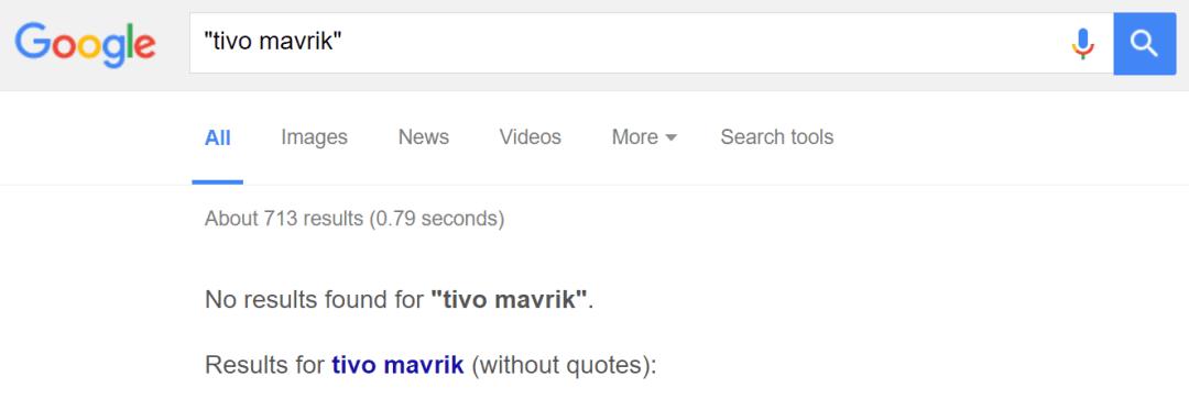 Tivo Mavrik Google Results