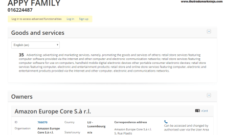 @Amazon @AmazonUK has filed another Trademark Application for AppyFamily Amazon