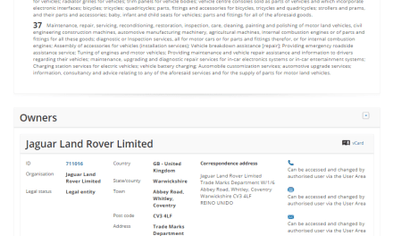 Another day another @jaguar @landrover trademark application Reborn