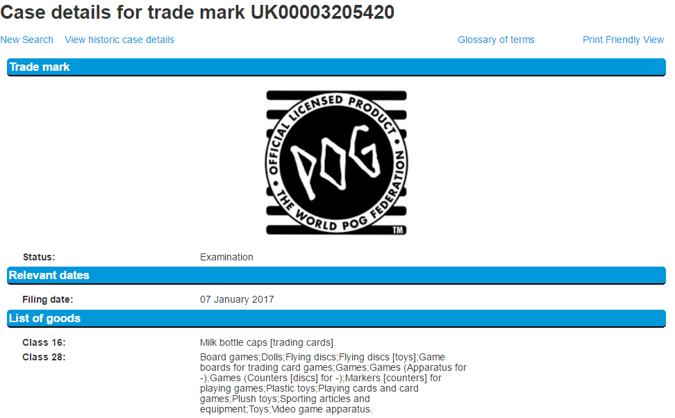 Are POG still a thing I could never get my head aroudn it New UK Trademark filed POGS