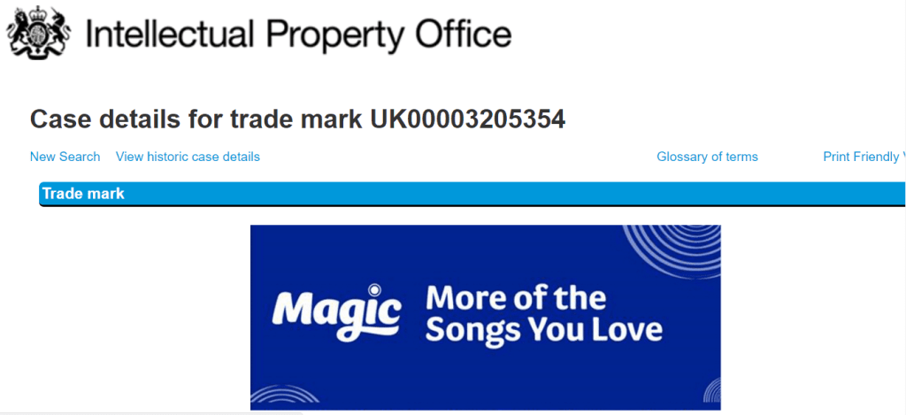 Bauer Radio in the UK applies for this logo for its Magic brand <a href=http://twitter.com/Magic target=_blank rel=nofollow data-recalc-dims=1>@Magic</a> Bauer