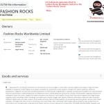 EU Trademark Applications FashionRocks trademark application filed in EU on 23 Feb 2017