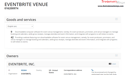 Eventbrite applies for EU trademark for EventbriteVenue @Eventbrite @Ticketmaster