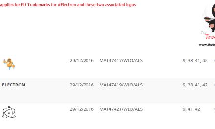 Github applies for EU Trademarks for Electron and these two associated logos @github