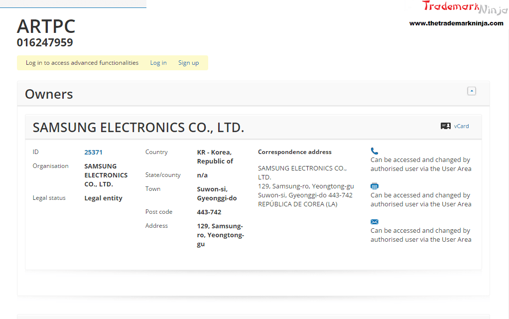 Heres the EU Trademark application for @Samsungs ARTPC Samsung