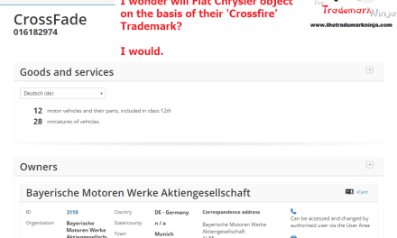 I wonder will @chrysler object to this Crossfade trademark application by @bmw