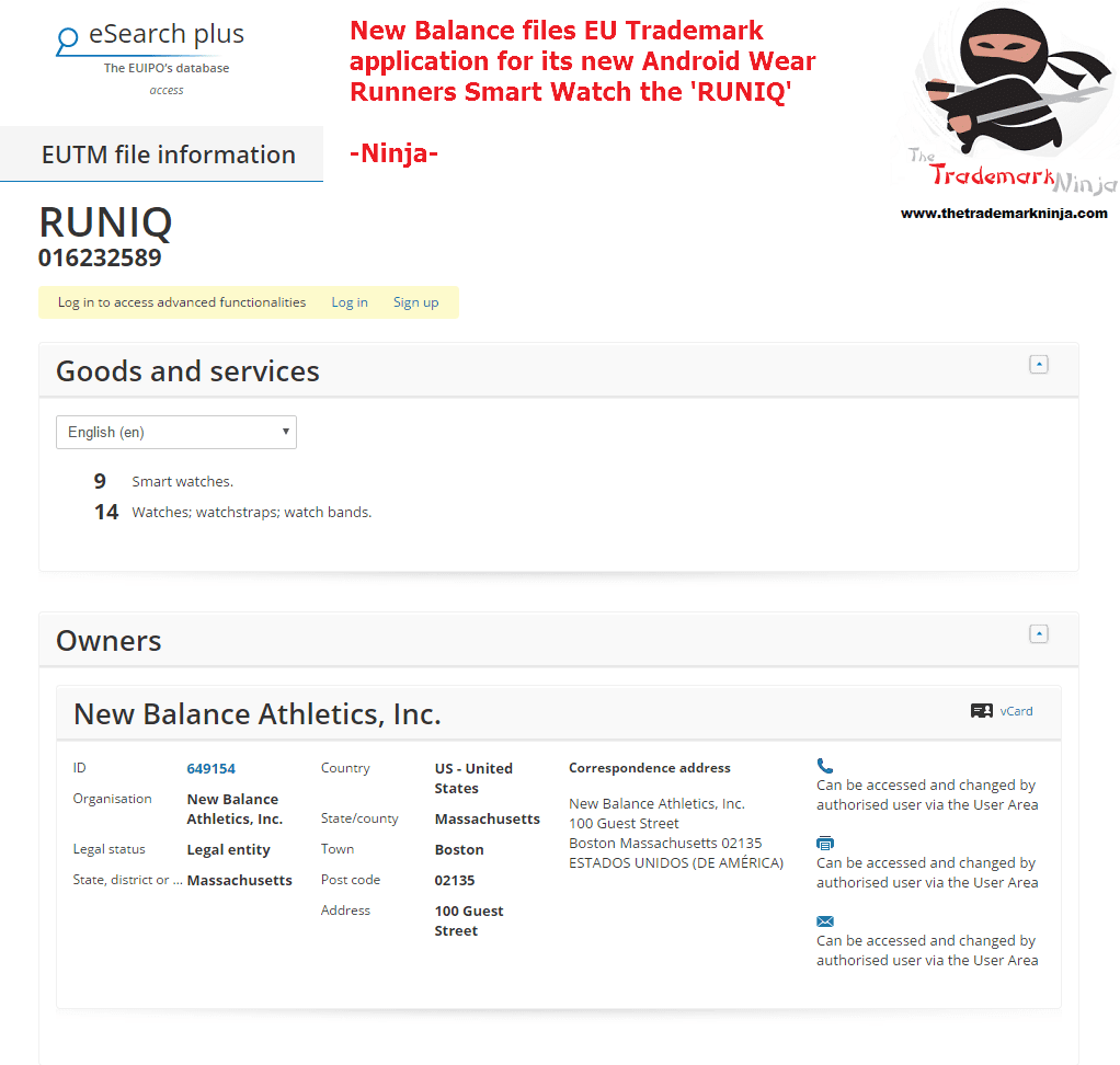 New Balance has filed a trademark application for its RUNIQ smartwatch <a href=