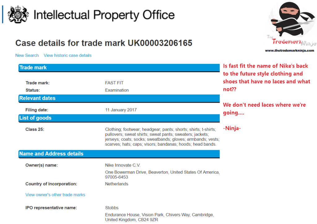 Nike applies for UK trademark for FastFit for clothes things not shoes Whats this <a href=