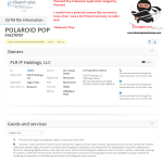 Polaroid have applied for an EU trademark for PolaroidPop
