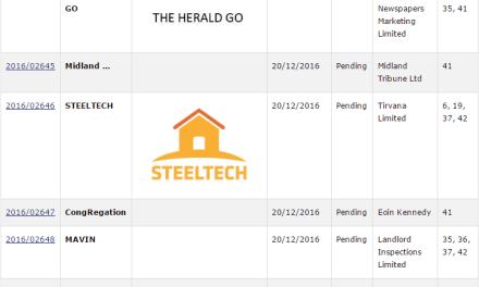 Recent Irish Trademark Applications for TheHeraldGo SurfRepublic and Steeltech