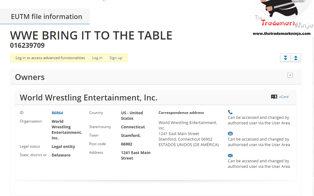 The @WWE have lodged a trademark application in the EU for BringItToTheTable TableMatch WWE