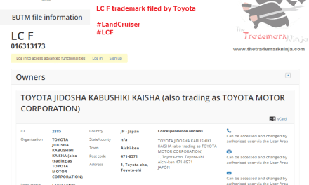 A trademark application for LCF have been filed with the EUIPO by @Toyota Toyota