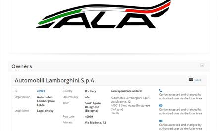 Anybody know what this @lamborghini trademark is for ALA LAMBO Lamborghini