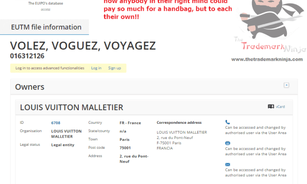 Bag maker is that underselling it a bit @LouisVuitton has applied for another trademark LouisVuitton