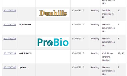 Looks like Mervue were off on a right little Irish Trademark Spree over the last few days