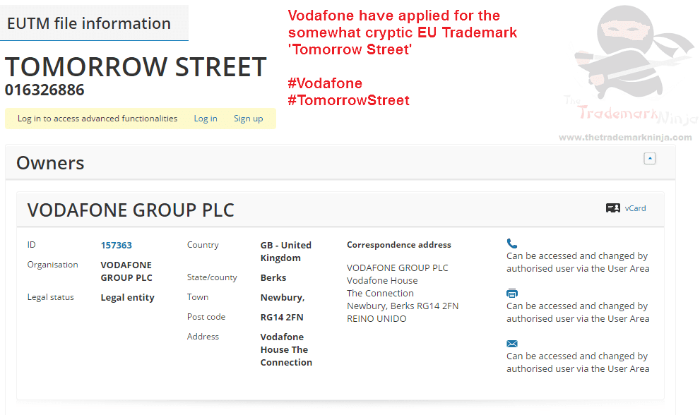 No idea what it is but <a href=http://twitter.com/vodafone target=_blank rel=nofollow data-recalc-dims=1>@vodafone</a> have applied for an EU trademark for TomorrowStreet