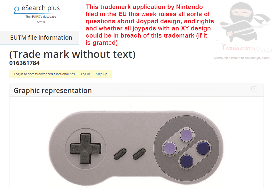 So @nintendo has applied for trademarks for the shape or design of its classic controllers Nintendo Joypad Controller
