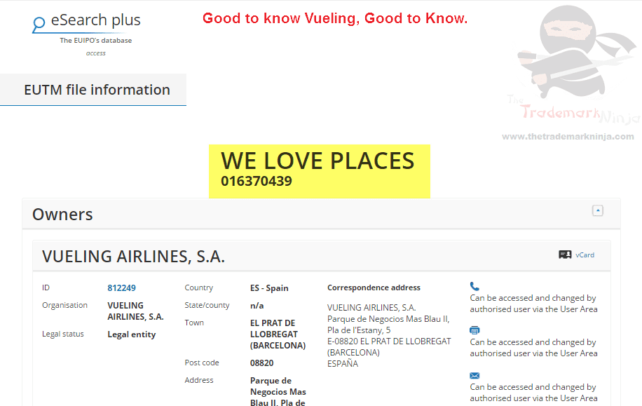 Spanish Airline Vueling Love