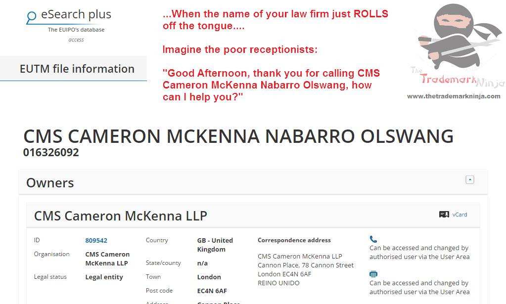 The trademark for CMS @CMSLAW filed in the EUIPO yesterday @Nabarro @Olswang @LegalCheek