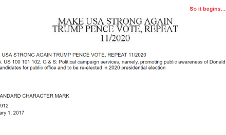 Trademark Application in US for Make USA Strong Again