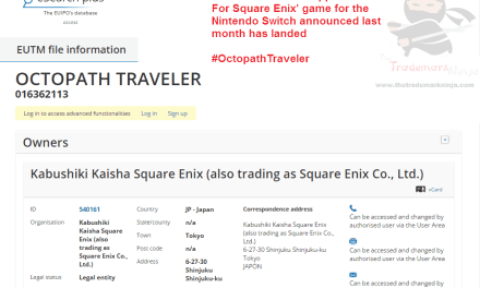 Trademark application in EU for OctopathTraveler Which I would spell traveller I think Nintendo SquareEnix