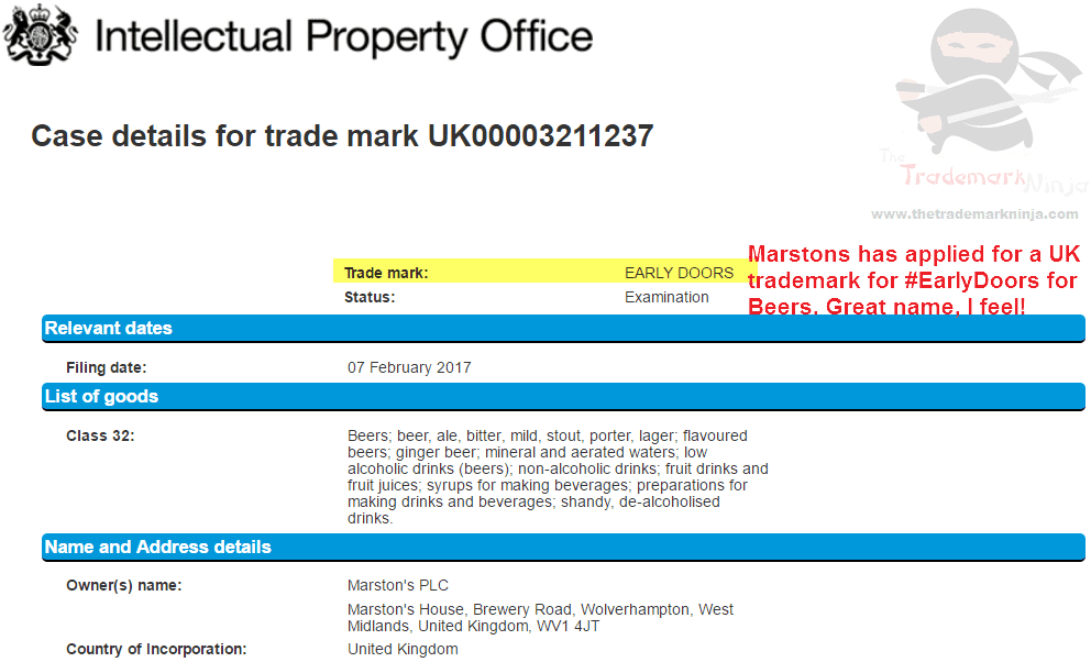 UK Trademark application by <a href=