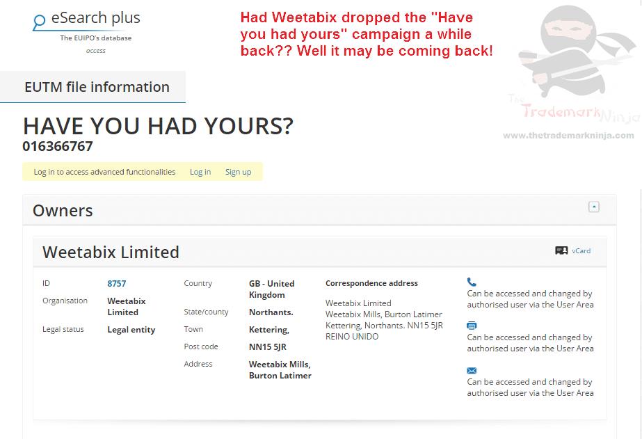 Weetabix applies for EU trademark for HaveYouHadYours <a href=
