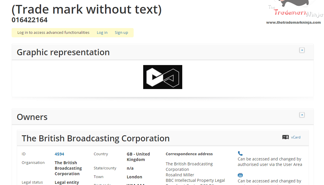 Anybody hazard a guess about this EU trademark application by the @BBC BBC