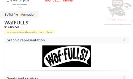 EU trademark application for Waffulls sounds a bit familiar to this ninja Waffles