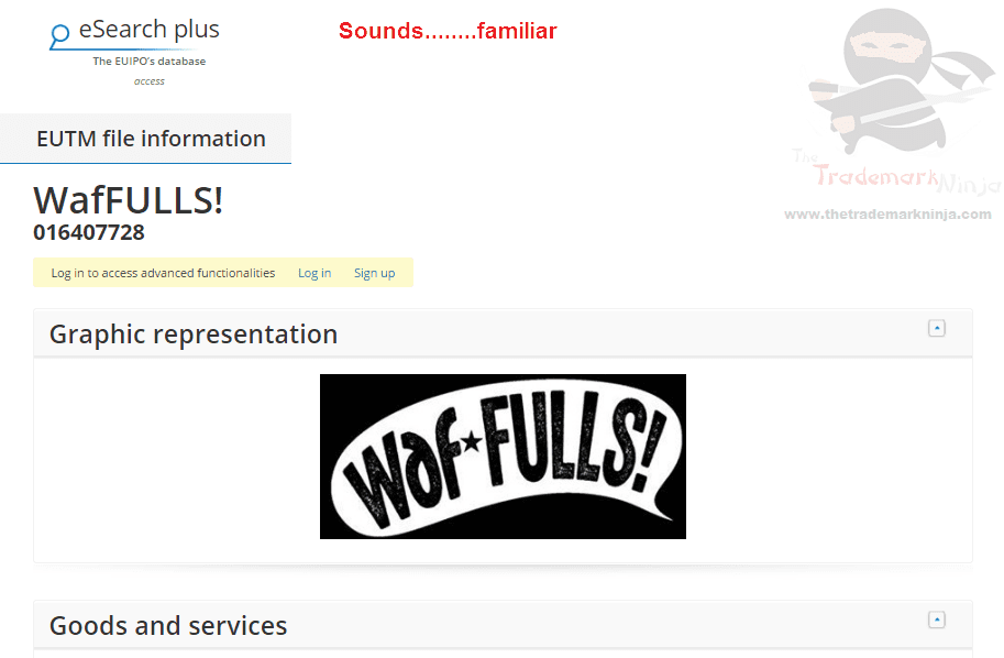 EU trademark application for Waffulls sounds a bit familiar to this ninja Waffles