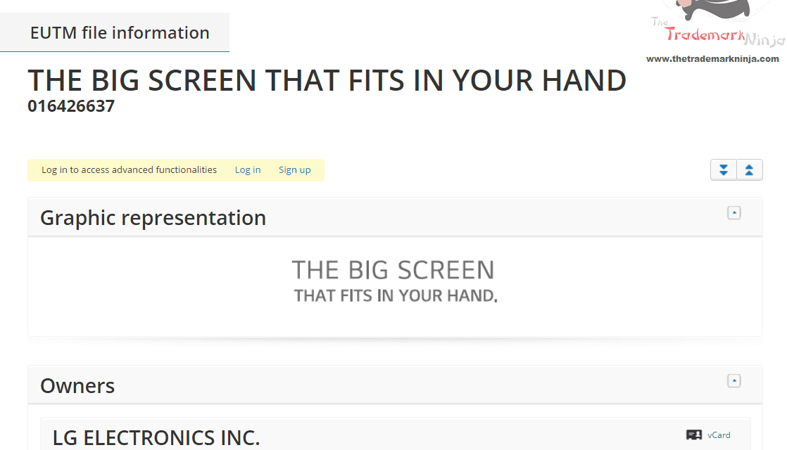 Electronics maker @LG applies for EU trademark for TheBigScreenThatFitsInYourHand
