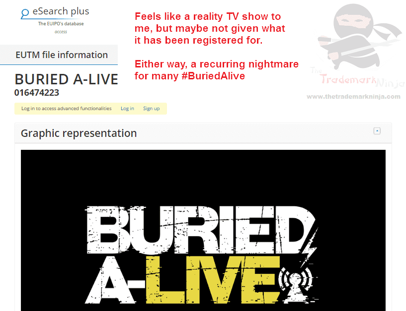 I saw this and immediatley thought we may have reached Peak Reality TV BuriedAlive