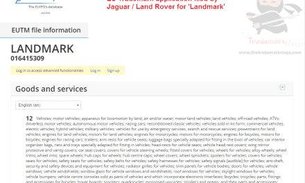 Landmark trademark application filed by @Jaguar @LandRover Landmark