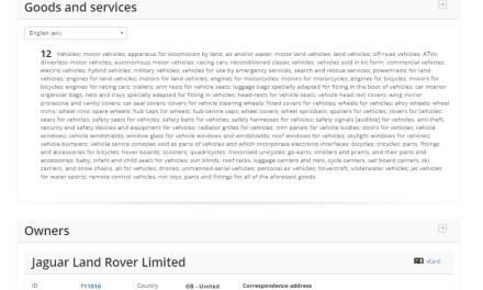 New trademark applications from @Jaguar @Landrover for LR1 LR2 and lots more LR trademarks