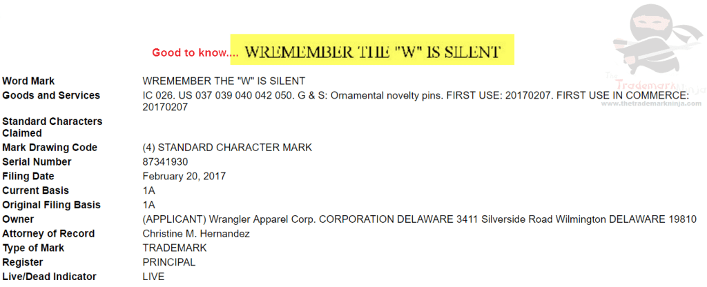 So <a href=http://twitter.com/wrangler target=_blank rel=nofollow data-recalc-dims=1>@wrangler</a> would like you all to Wremember the W is silen Wrangler