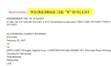 So @wrangler would like you all to Wremember the W is silen Wrangler