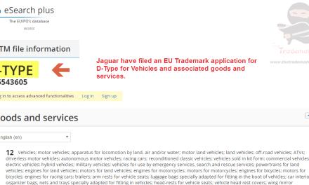 Another @Jaguar trademark application across the EU this time for DType D Type Jag Jaguar