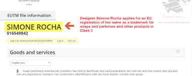 Simone Rocha applies for an EU trademark for her name SimoneRocha Rocha