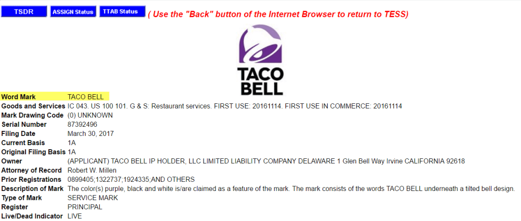 Taco Bell have lodged a new trademark application for the <a href=http://twitter.com/tacobell target=_blank rel=nofollow data-recalc-dims=1>@tacobell</a> logo TacoBell trademark