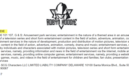 US tradmark application filed for Robyn Hoodie RobinHood RobynHood RobynHoodie