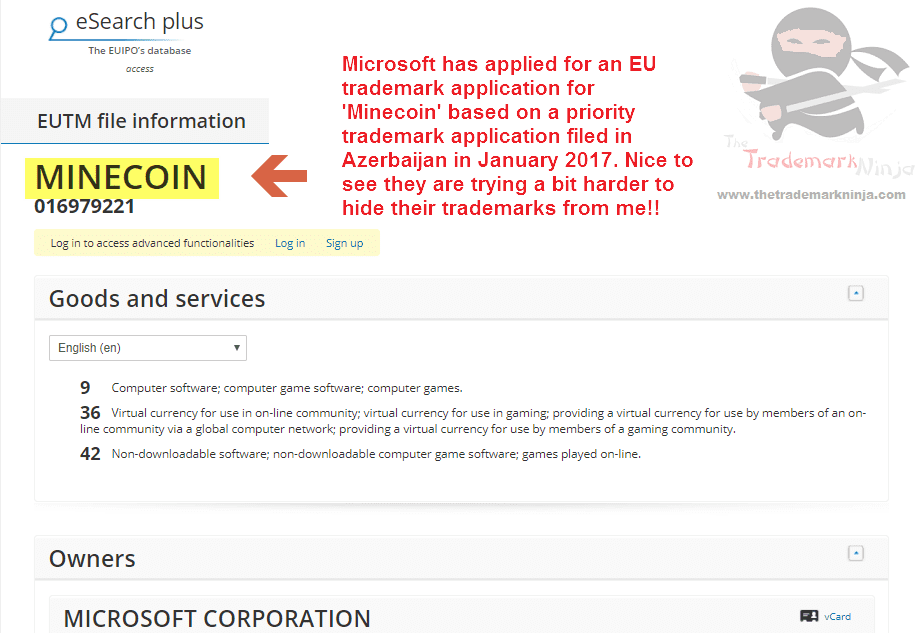 Minecoin Trademark Application Filed By Microsoft