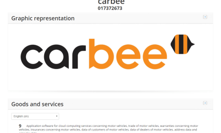 EU Trademark Application filed for Carbee EUTM Trademark #Carbee