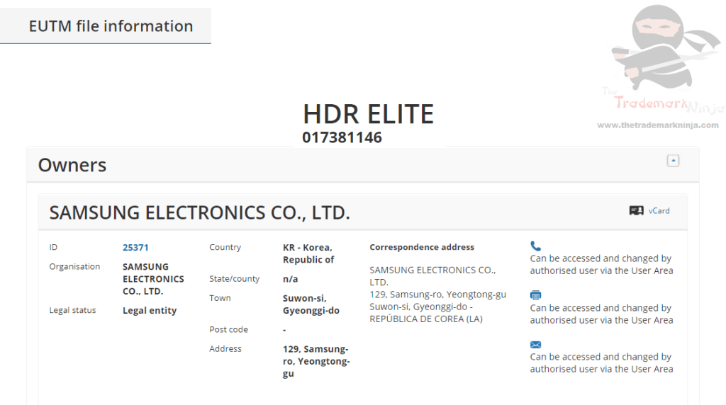 Samsung applies for HDR Elite as an EU Trademark for Tvs Monitors Displays Samsung HDRElite Trademark